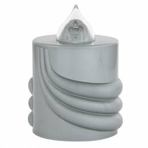 Velas votivas: Vela votiva Lumada gris luz parpadeante