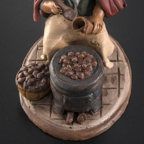 Venditore di castagne terracotta 18 cm s4