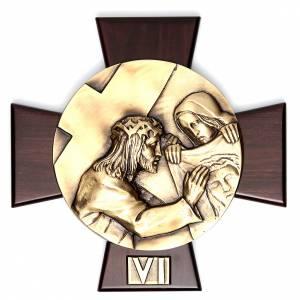Vía Crucis 14 estaciones latón fundido sobre placa s6