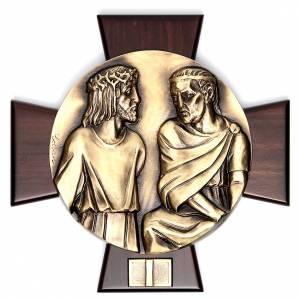 Vía Crucis: Vía Crucis 14 estaciones latón fundido sobre placa