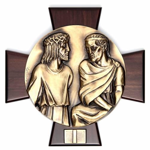 Vía Crucis 14 estaciones latón fundido sobre placa s1