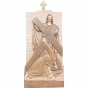 Via Crucis 14 stazioni 40x20 cm legno Valgardena multipatinato s2