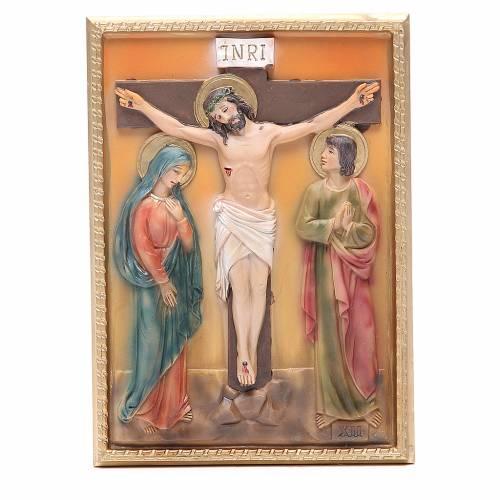 Via Crucis 14 stazioni resina 16,5x11,5cm s12