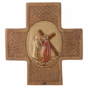 Vía Crucis 15 estaciones de piedra 22,5cm Bethléem s8