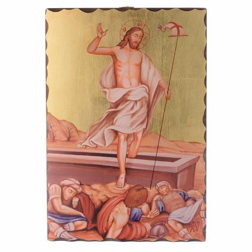 Via Crucis quadretti serigrafati 30x20 cm legno s15