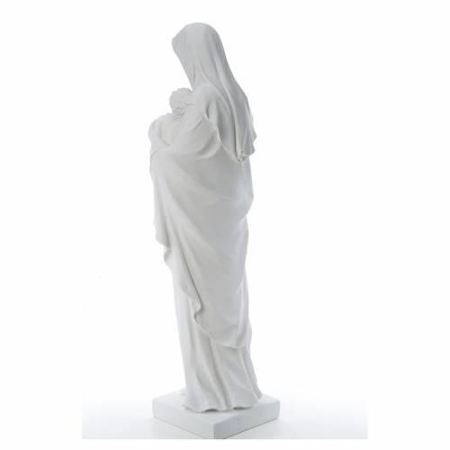 Vierge à l'enfant marbre blanc reconstitué 100 cm s3