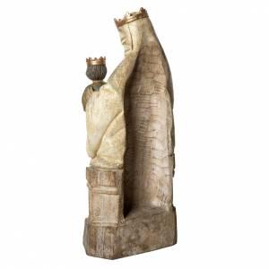 Vierge d'Oiseau statue, 90 cm in painted wood, Bethléem s4