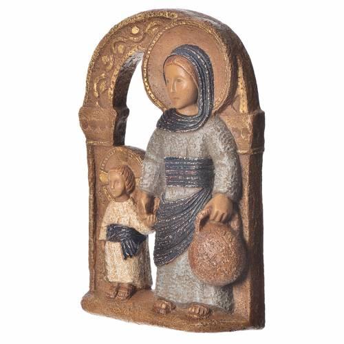 Vierge de Nazareth veste bleue 35cm pierre Bethléem s2
