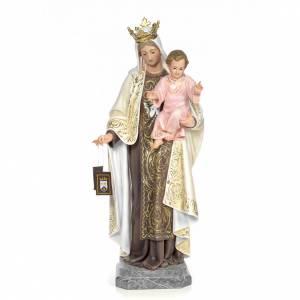 Vierge du Mont Carmel 100 cm pâte à bois s1