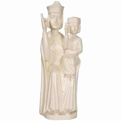 Vierge Enfant style romain 28 cm naturel ciré Valgardena s1