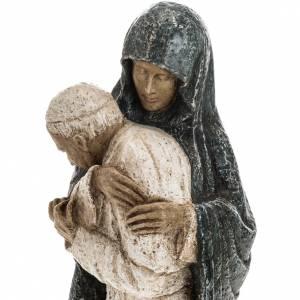 Vierge Marie avec Jean Paul II 27 cm Bethléem s4