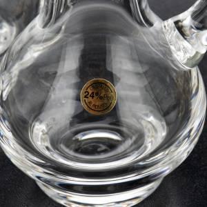 Vinajeras cristal plato dorado niquelado s8