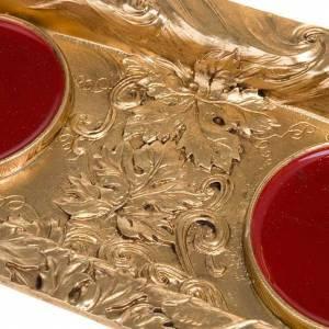 Vinajeras Metal: Vinajeras magnéticas peltre dorado