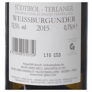 Vino Pinot Bianco di Terlano DOC 2015 Abbazia Muri Gries 750 ml s2