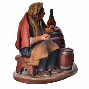 Vintner 18cm Nativity Deruta terracotta s6