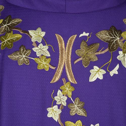 Violet chasuble with stole, ivy s2