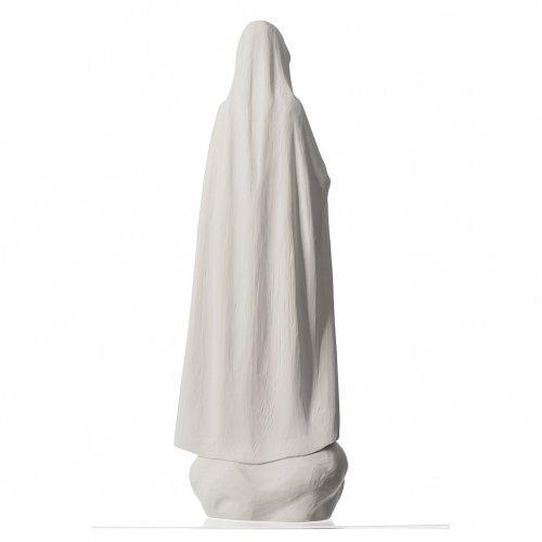 Virgen de Fátima 60 cm polvo de mármol blanco s4