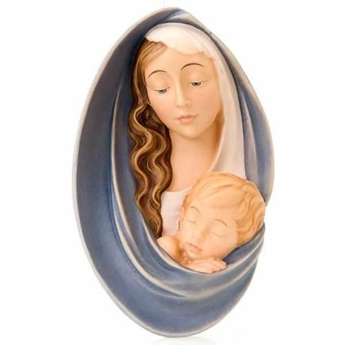 Virgen en relieve de madera s1