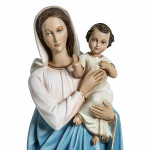 Virgin Mary and baby Jesus statue in fiberglass 60cm s2