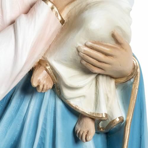 Virgin Mary and baby Jesus statue in fiberglass 60cm s6