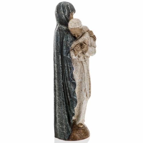 Virgin Mary and John Paul II statue 27 cm, Bethlehem Nuns s6