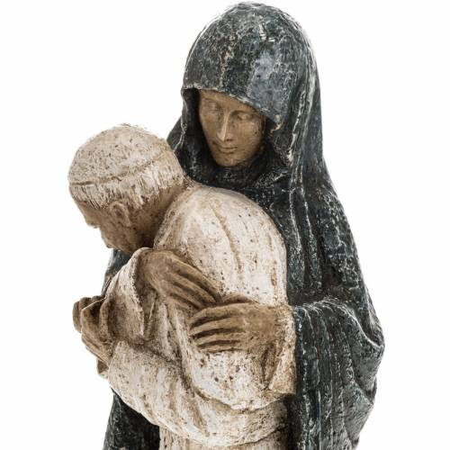 Virgin Mary and John Paul II statue 27 cm, Bethlehem Nuns s4