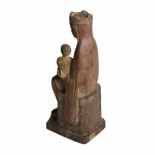 Virgin of Solsona statue in painted Bethléem wood, antique fini s4