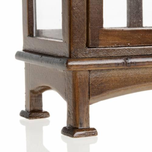 Vitrine en bois miniature pour crèche s4
