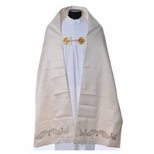 Chapes, Chasubles Romaines, Dalmatiques: Voile huméral décor calice 50x270 cm 100% polyester