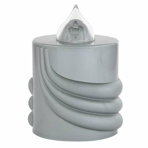 Votive candle, grey, Lumada, intermittent light s1