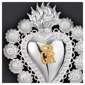 Ex-Voto: Votive sacred heart, filigree 15x20cm