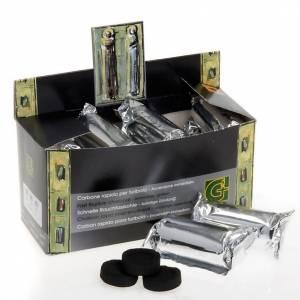 Węgle trybularzowe: Węgiel do kadzenia profesjonalny (4 sekundy, 38 sekund, 50 minut )