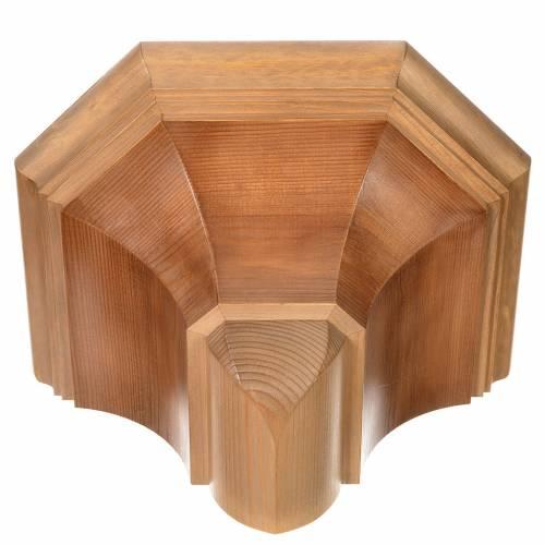 Wall shelf, gothic 22x27 in multi-patinated Valgardena wood s4
