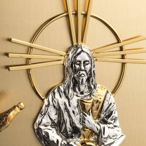 Tabernacles: Wall Tabernacle with Jesus image in gold-plated cast brass
