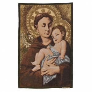 Wandteppiche: Wandteppich Hl. Anton aus Padua 50x35cm