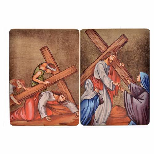 Way of the cross, 15stations in wood s6