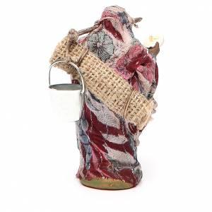 Wayfarer woman, Neapolitan nativity figurine 10cm s3