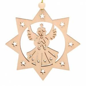 Christbaumschmuck aus Holz und PVC: Weihnachtsglocke Dekoration