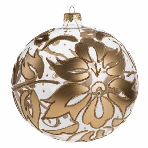 Weihnachtskugel Baum geblasenes Glas golden 15 cm s1
