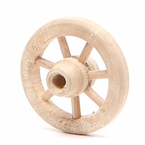 Wheel in wood diameter 4,5cm s2