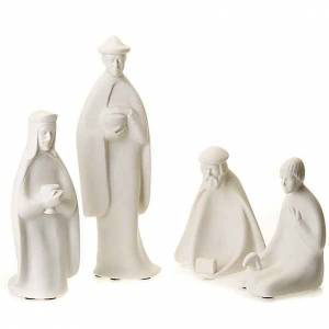 Stylized Nativity scene: Wise Kings and shepherd