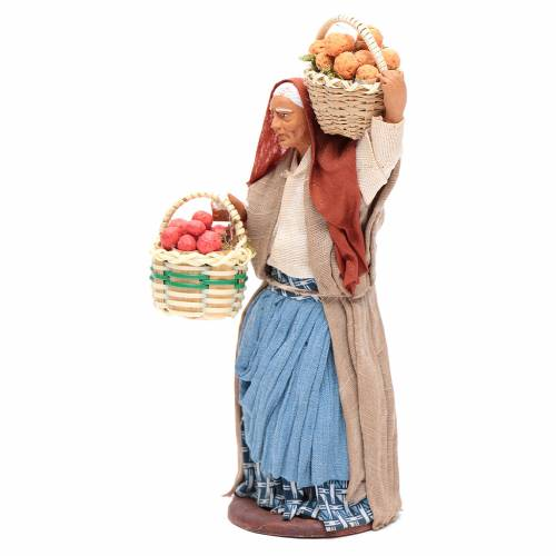 Woman carrying basket of fruit for Neapolitan Nativity, 14cm s2
