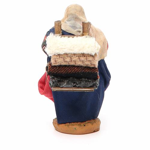 Woman carrying fabric, Neapolitan nativity figurine 10cm s3