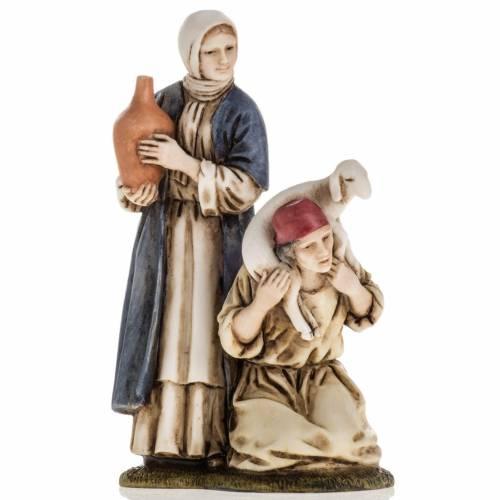 Woman with amphora and kneeling shepherd Moranduzzo 11cm s1
