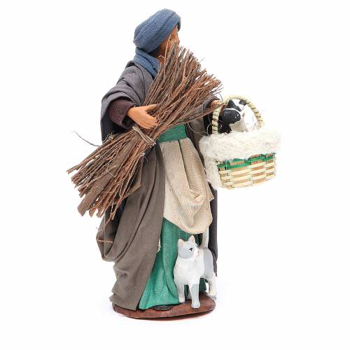 Woman with cats, figurine for Neapolitan Nativity, 14cm s3