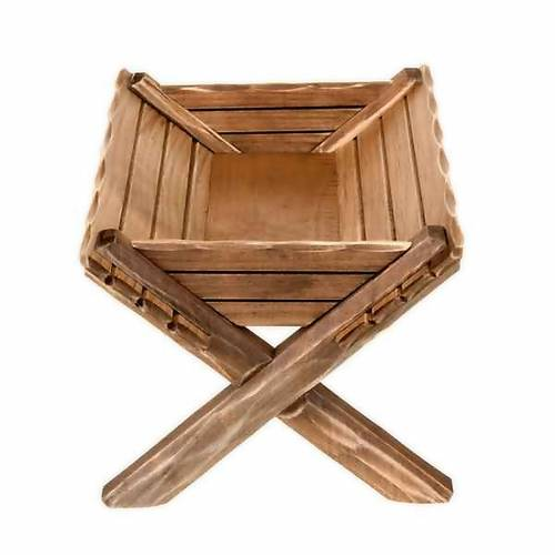Wooden cradle for Baby Jesus statues s2