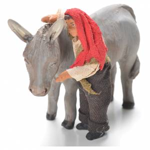 Young boy standing with donkey, Neapolitan Nativity 10cm s1