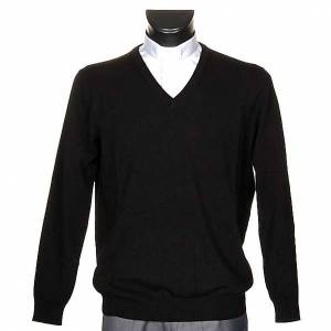100% cachemire V-neck pullover s1