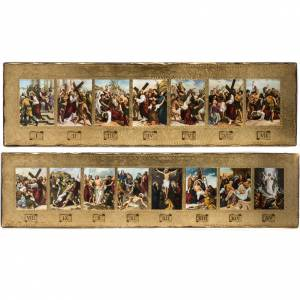 Way of the Cross: 15 Stations of the cross 2 wood boards