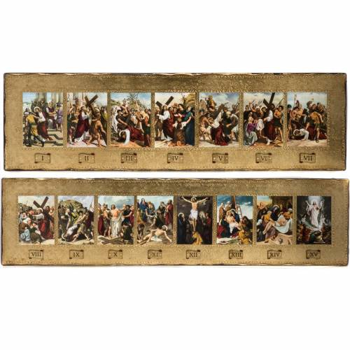 15 Stations of the cross 2 wood boards s1
